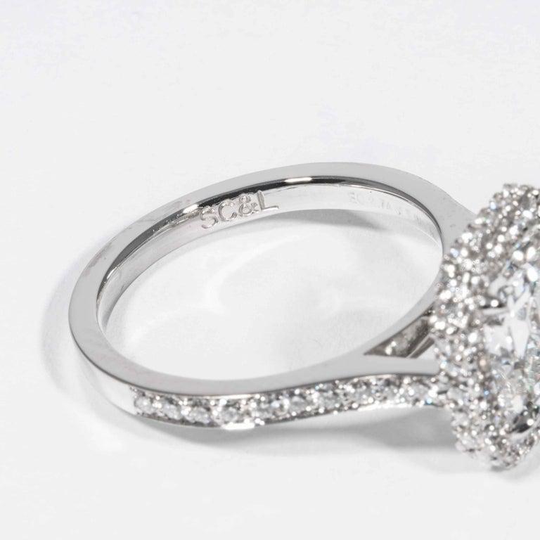 Shreve, Crump & Low GIA Certified 2.74 Carat E SI1 Emerald Cut Diamond Ring For Sale 3