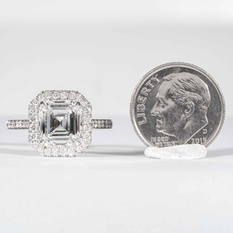 Shreve, Crump & Low GIA Certified 2.74 Carat E SI1 Emerald Cut Diamond Ring For Sale 4