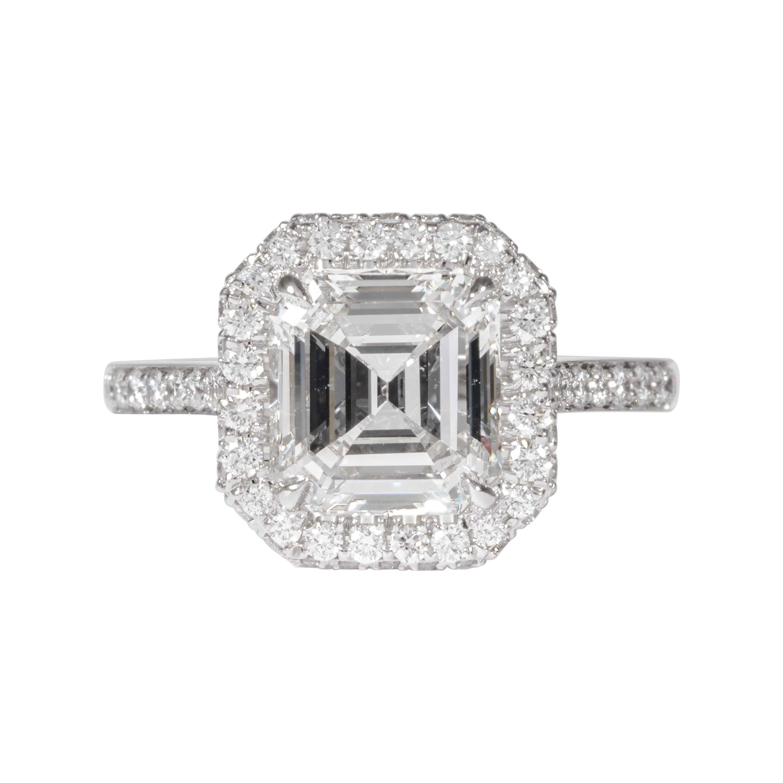 Shreve, Crump & Low GIA Certified 2.74 Carat E SI1 Emerald Cut Diamond Ring