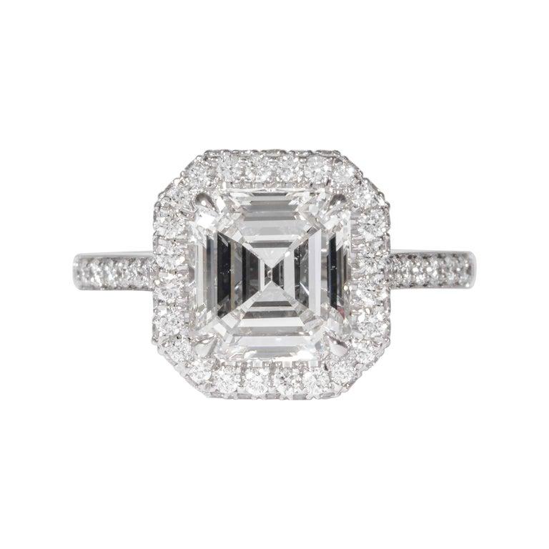 Shreve, Crump & Low GIA Certified 2.74 Carat E SI1 Emerald Cut Diamond Ring For Sale