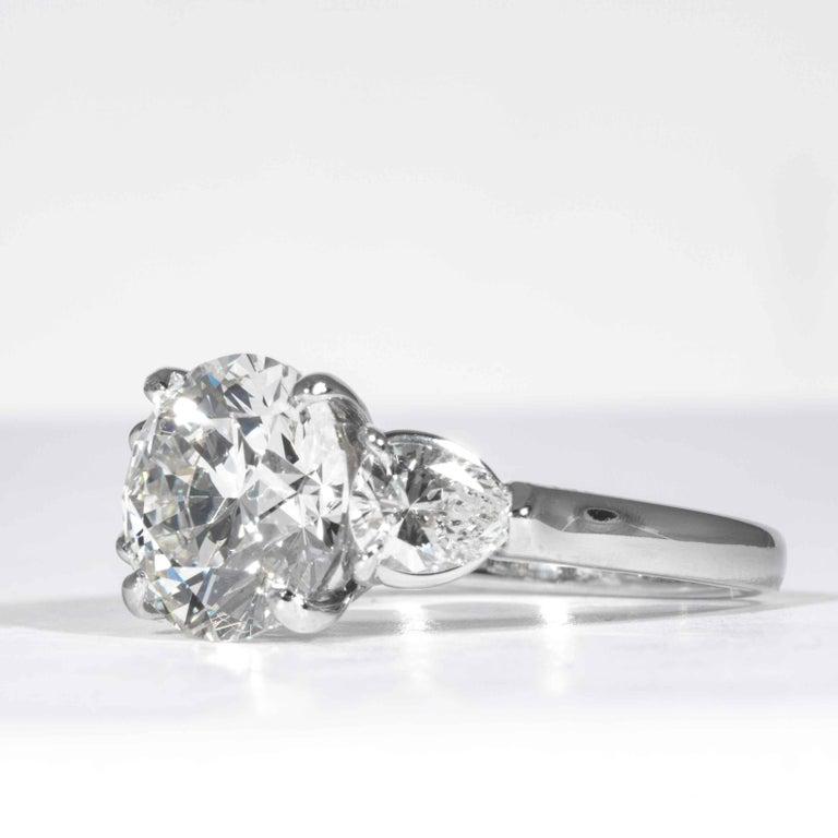 Shreve, Crump & Low GIA Certified 3.23 Carat E VVS2 Round Brilliant Diamond Ring In New Condition For Sale In Boston, MA