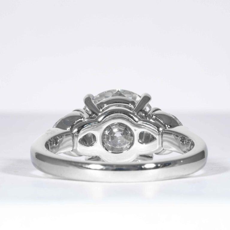 Shreve, Crump & Low GIA Certified 3.23 Carat E VVS2 Round Brilliant Diamond Ring For Sale 1