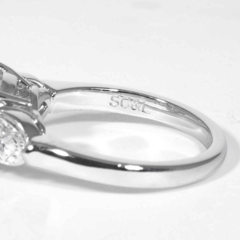 Shreve, Crump & Low GIA Certified 3.23 Carat E VVS2 Round Brilliant Diamond Ring For Sale 2