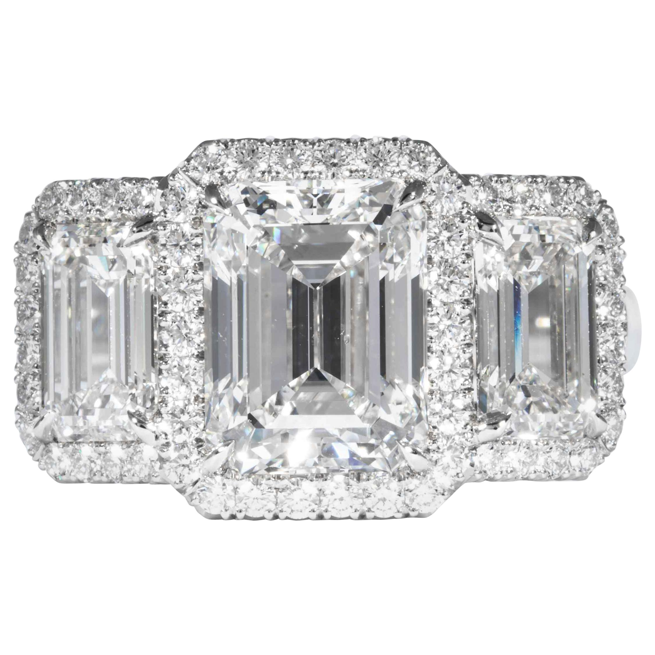 Shreve, Crump & Low GIA Certified 3.23 Carat G SI1 Emerald Cut Diamond Ring