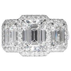 Shreve, Crump & Low GIA Certified 3.23 Carat G SI1 Emerald Cut Diamond Ring