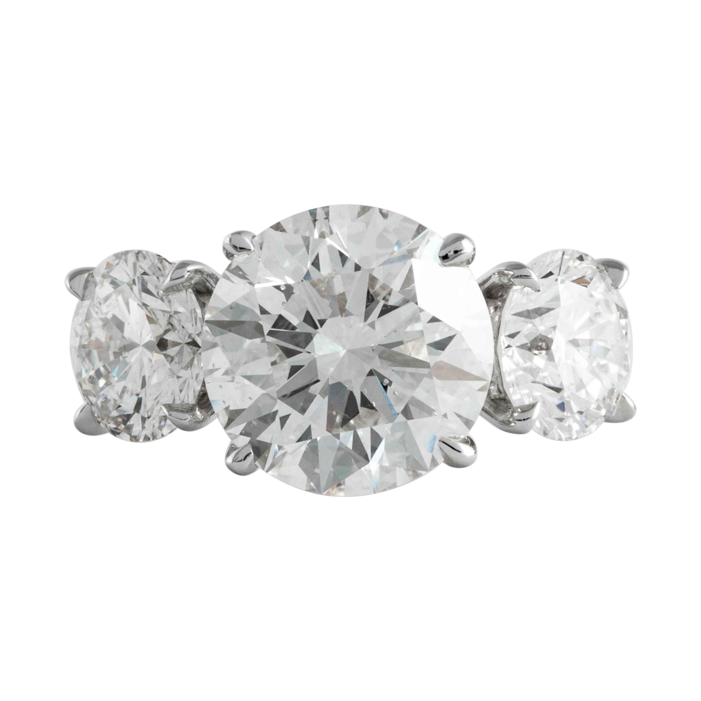 Shreve, Crump & Low GIA Certified 3.51 Carat H SI1 Round Brilliant Diamond Ring