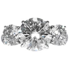 Shreve, Crump & Low GIA Certified 3.99 Carat J SI2 Round Brilliant Diamond Ring