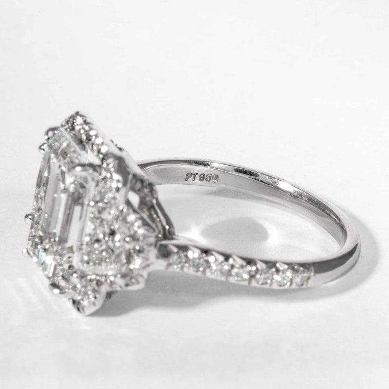 Shreve, Crump & Low GIA Certified 4.01 Carat G VVS2 Emerald Cut Diamond Ring For Sale 1