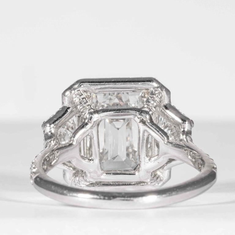 Shreve, Crump & Low GIA Certified 4.01 Carat G VVS2 Emerald Cut Diamond Ring For Sale 2