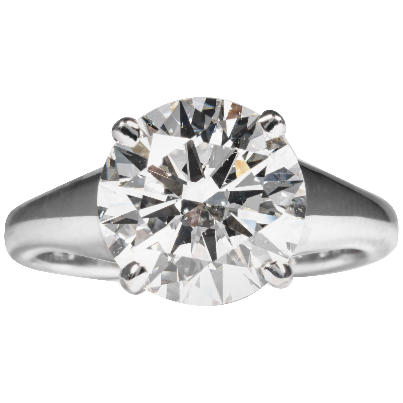 Shreve, Crump & Low GIA Certified 4.26 Carat H SI1 Round Brilliant Diamond Ring