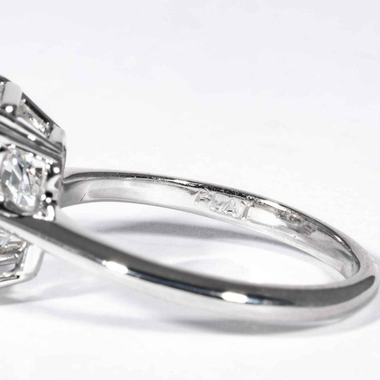Shreve, Crump & Low GIA Certified 4.50 Carat F VS2 Radiant Cut Diamond Plat Ring For Sale 1