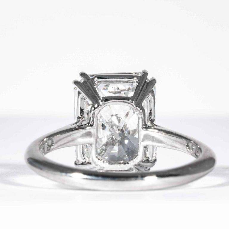 Shreve, Crump & Low GIA Certified 4.50 Carat F VS2 Radiant Cut Diamond Plat Ring For Sale 3