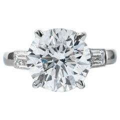 Shreve, Crump & Low GIA Certified 4.72 Carat D SI1 Round Brilliant Diamond Ring