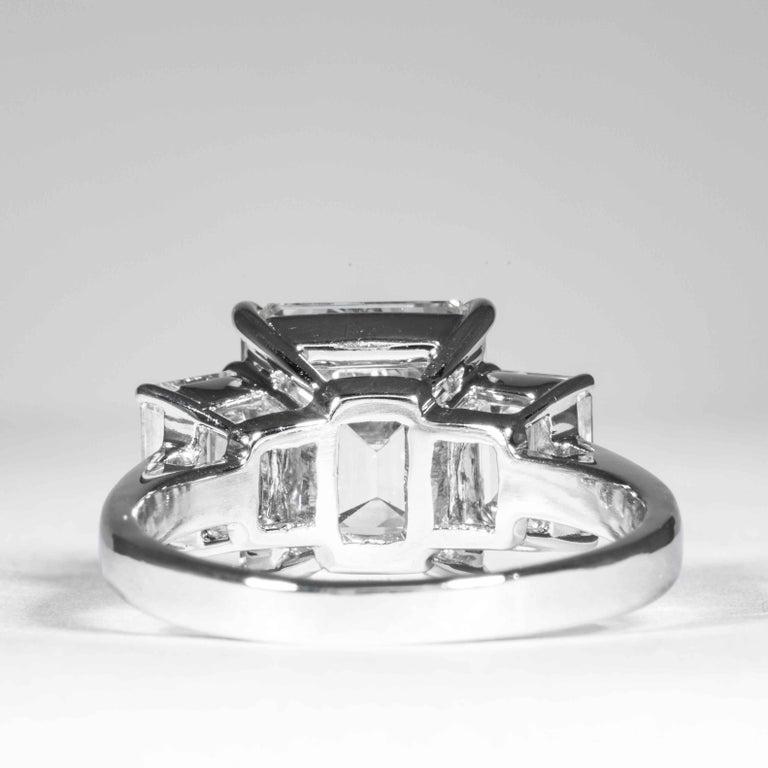 Women's Shreve, Crump & Low GIA Certified 5.05 Carat J VVS2 Emerald Cut Diamond Ring For Sale
