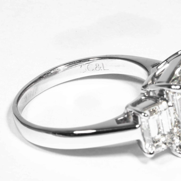 Shreve, Crump & Low GIA Certified 5.05 Carat J VVS2 Emerald Cut Diamond Ring For Sale 2