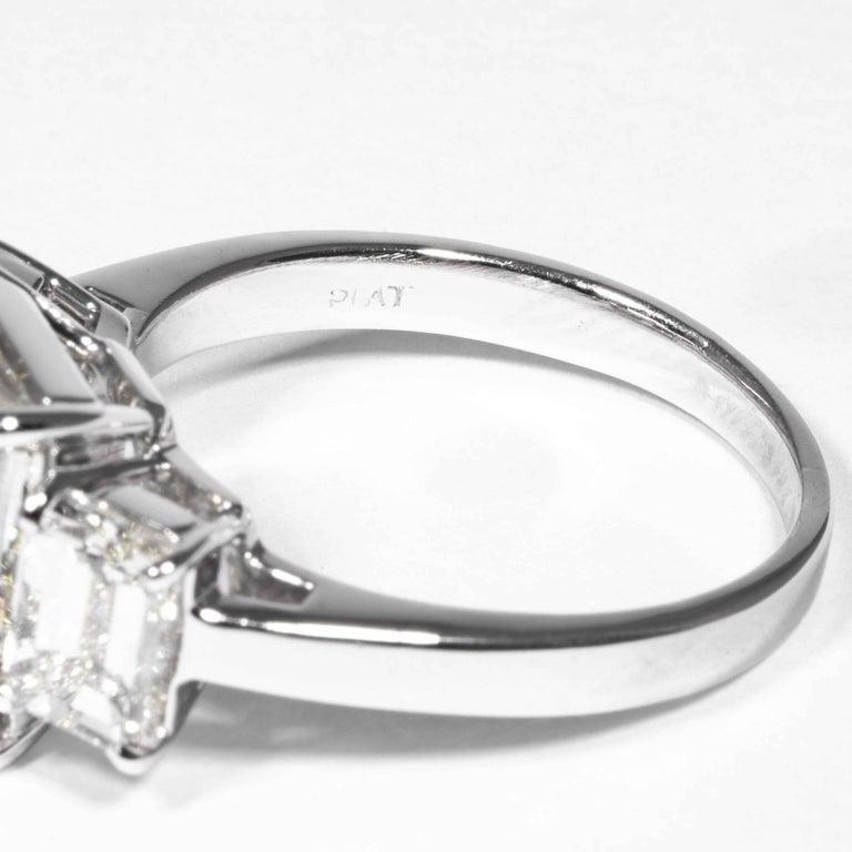 Shreve, Crump & Low GIA Certified 5.05 Carat J VVS2 Emerald Cut Diamond Ring For Sale 3