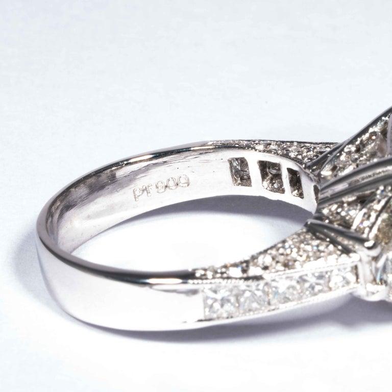 Shreve, Crump & Low GIA Certified 5.07 Carat I VS2 Radiant Cut Diamond Plat Ring For Sale 2