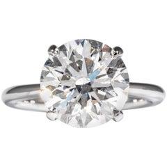Shreve, Crump & Low GIA Certified 5.12 Carat E SI1 Round Brilliant Diamond Ring
