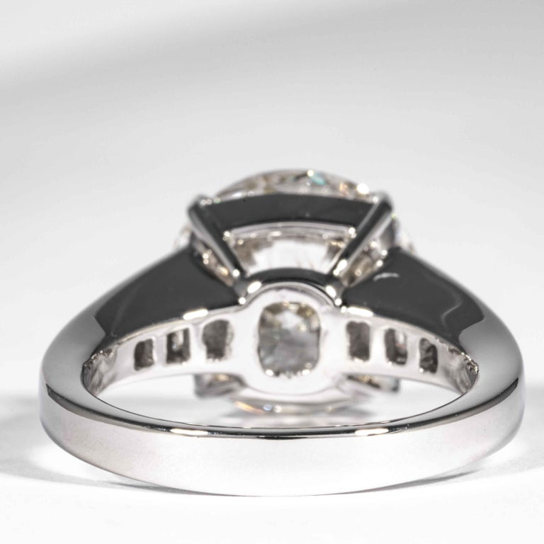 Shreve, Crump & Low GIA Certified 5.60 Carat J SI1 Round Brilliant Diamond Ring For Sale 1