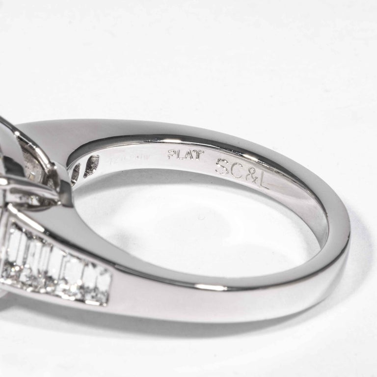 Shreve, Crump & Low GIA Certified 5.60 Carat J SI1 Round Brilliant Diamond Ring For Sale 2