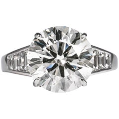 Shreve, Crump & Low GIA Certified 5.60 Carat J SI1 Round Brilliant Diamond Ring