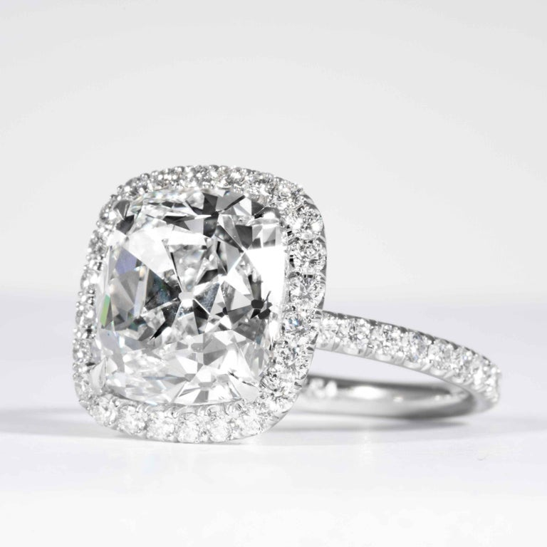 Shreve, Crump & Low GIA Certified 7.01 Carat G SI2 Cushion Cut Diamond Ring In New Condition For Sale In Boston, MA
