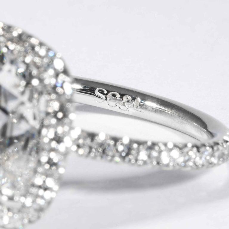 Shreve, Crump & Low GIA Certified 7.01 Carat G SI2 Cushion Cut Diamond Ring For Sale 1