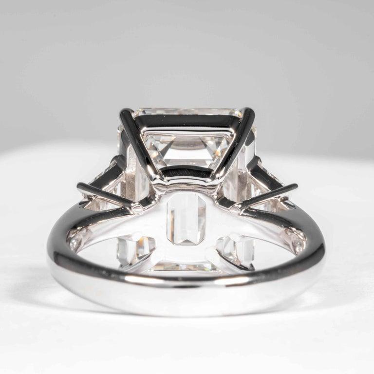 Shreve, Crump & Low GIA Certified 8.97 Carat G VS2 Emerald Cut Diamond Ring For Sale 2