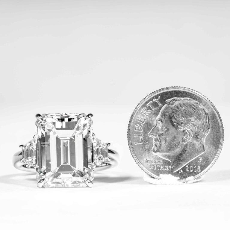 Shreve, Crump & Low GIA Certified 8.97 Carat G VS2 Emerald Cut Diamond Ring For Sale 4