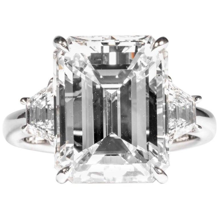 Shreve, Crump & Low GIA Certified 8.97 Carat G VS2 Emerald Cut Diamond Ring For Sale