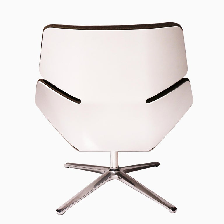 """Enameled """"Shrimp"""" Easy Chair by Jehs + Laub for COR Sitzmøbel For Sale"""