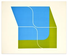 A Fresh Wind - Color Variation - Screen Print by Shu Takahashi - 1970s