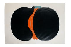 Black Ferment - Chalcography and Screen Print by Shu Takahashi - 1973