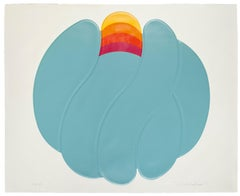 Blue Ball - Original Mixed Media by Shu Takahashi - 1973