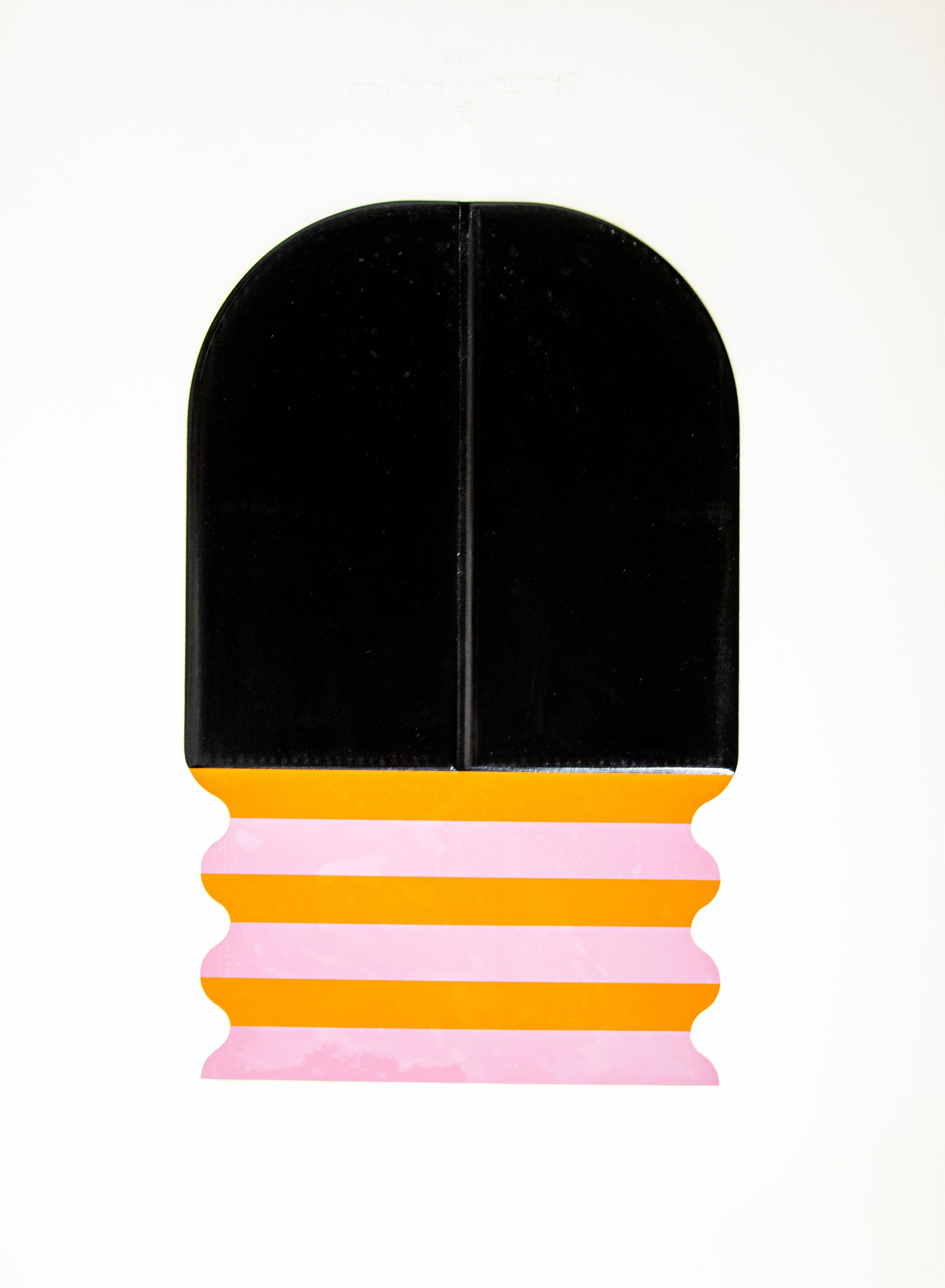 Composition - Embossing and Screen Print by Shu Takahashi - 1973