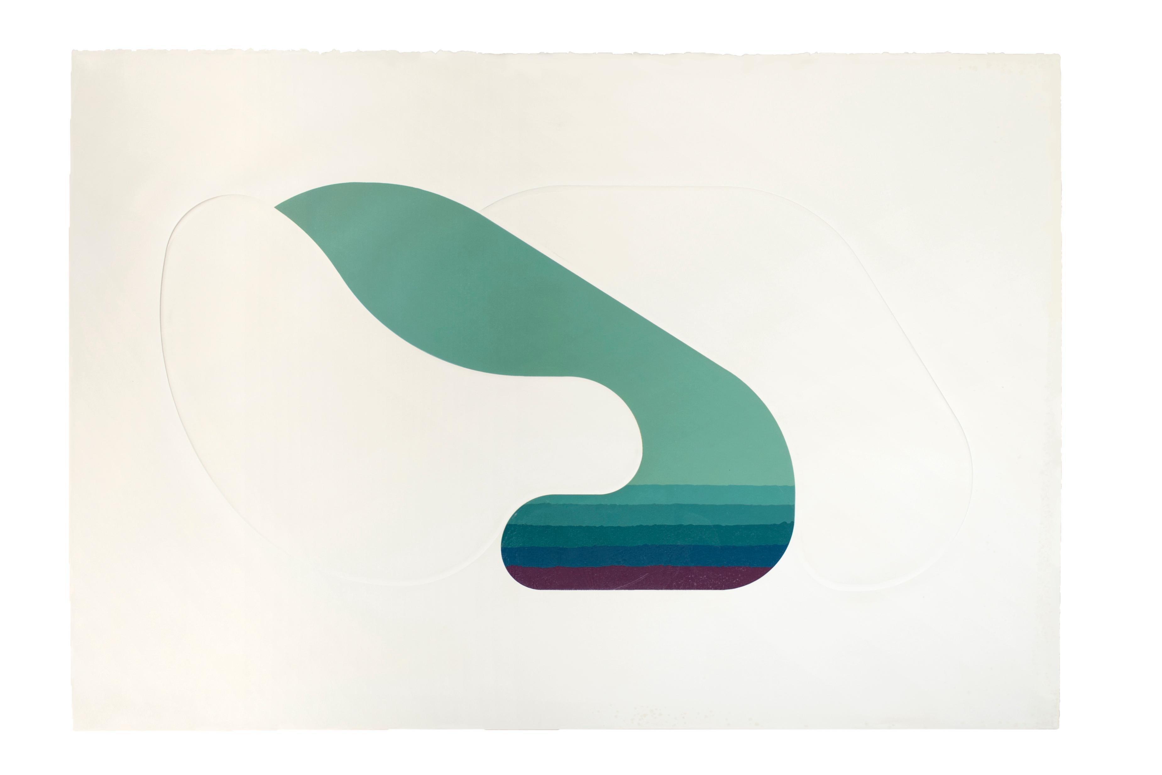 Fountain - Original Chalcography an Screen Print by Shu Takahashi - 1973
