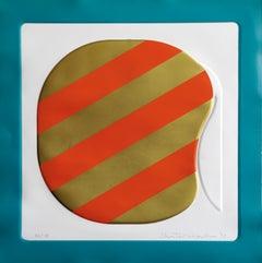 Orange Origin - Original Mixed Media by Shu Takahashi - 1973