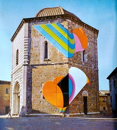 Volterra 1973 - Original Vintage Photolithograph after Shu Takahashi - 1973