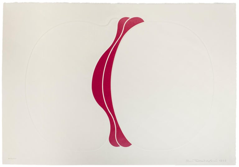 Hand signed, dated and numbered by artist with pencil.  Edition of 75 prints plus 15 prints in Roman Numerals.  Calcography and serigraph.   Shu Takahashi was born in Hiroshima in 1930. In 1950 he moved to Tokyo and in spite of mother's opposition