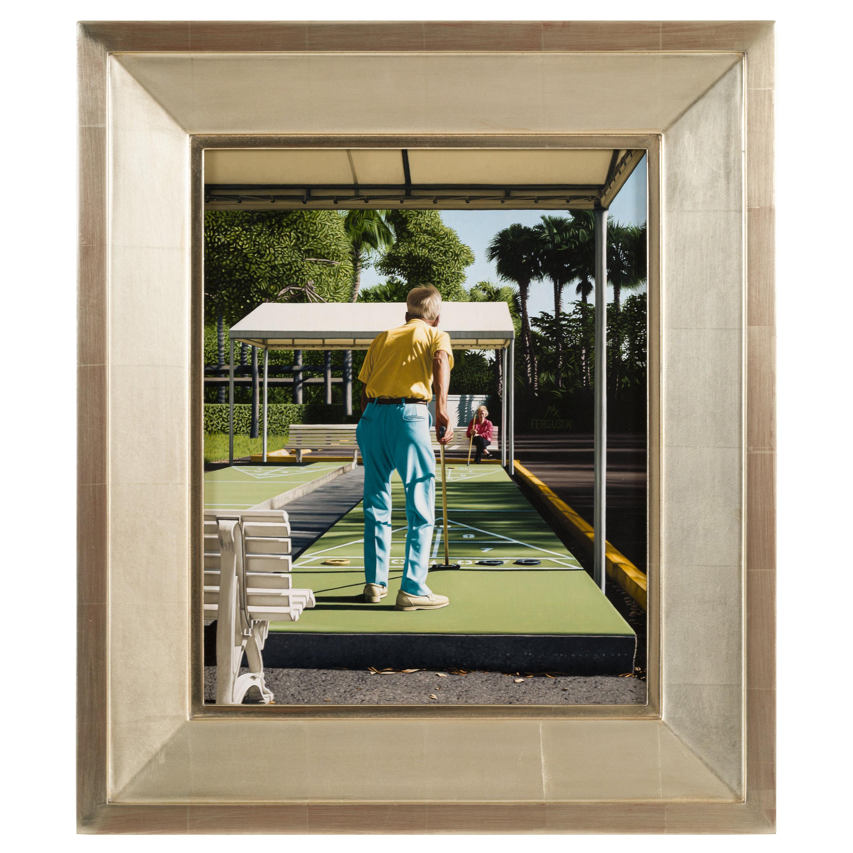 """""""Shuffleboard"""" Oil on Panel Painting by Max Ferguson, USA 2011"""