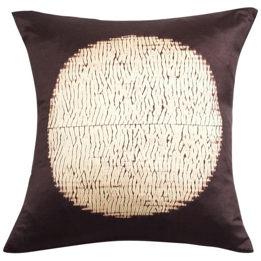 Shunya Black Shibori Silk Pillow