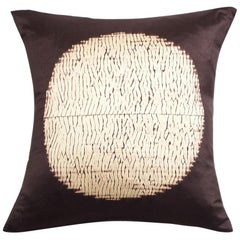 Shunya Black Shibori Silk Pillow