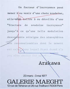 """Galerie Maeght,"" Offset Poster by Shusaku Arakawa"
