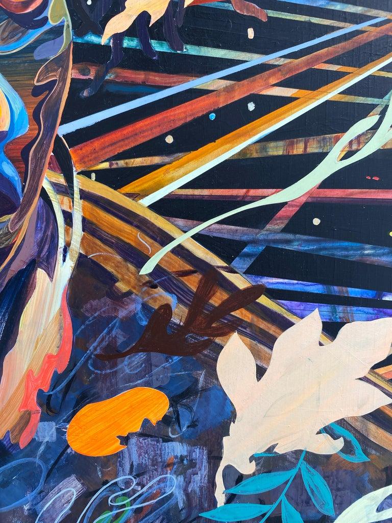 Night Dancer - Abstract Painting by Shuto Okayasu
