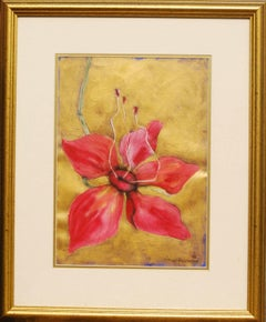 "Illusion-Still Life, Red, Flower with its Pollen Talks of Procreation ""In Stock"""