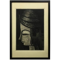 Shuzo Ikeda Signed Limited Edition Japanese Woodblock Print, 1961