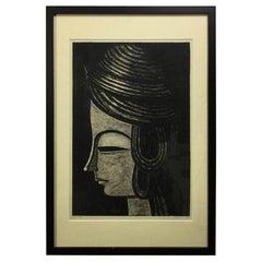 Shuzo Ikeda Signed Limited Edition Japanese Woodblock Print, 1961