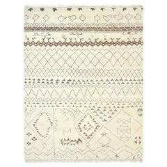 Shweta, Bohemian Moroccan Inspired Hand Knotted Area Rug, Parchment