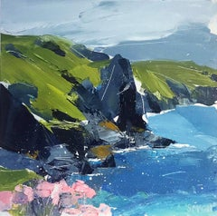 The Rumps - contemporary seaside landscape acrylic on board