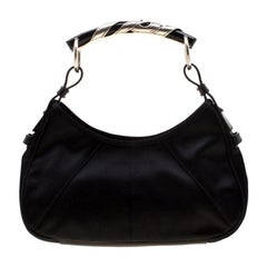 Siant Laurent Paris Black Satin Mini Mombasa Hobo